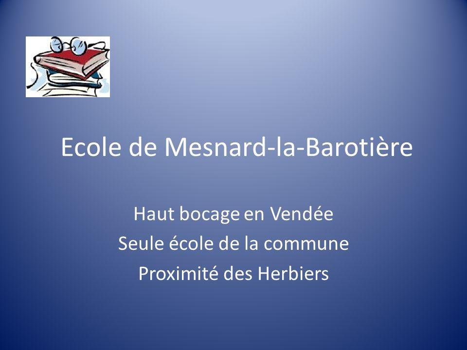 Ecole de Mesnard-la-Barotière Haut bocage en Vendée Seule école de la commune Proximité des Herbiers