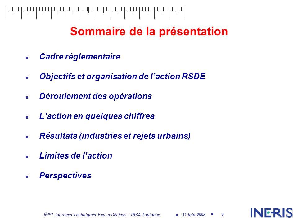 11 juin 2008 5 èmes Journées Techniques Eau et Déchets - INSA Toulouse 13 Répartition régionale des sites