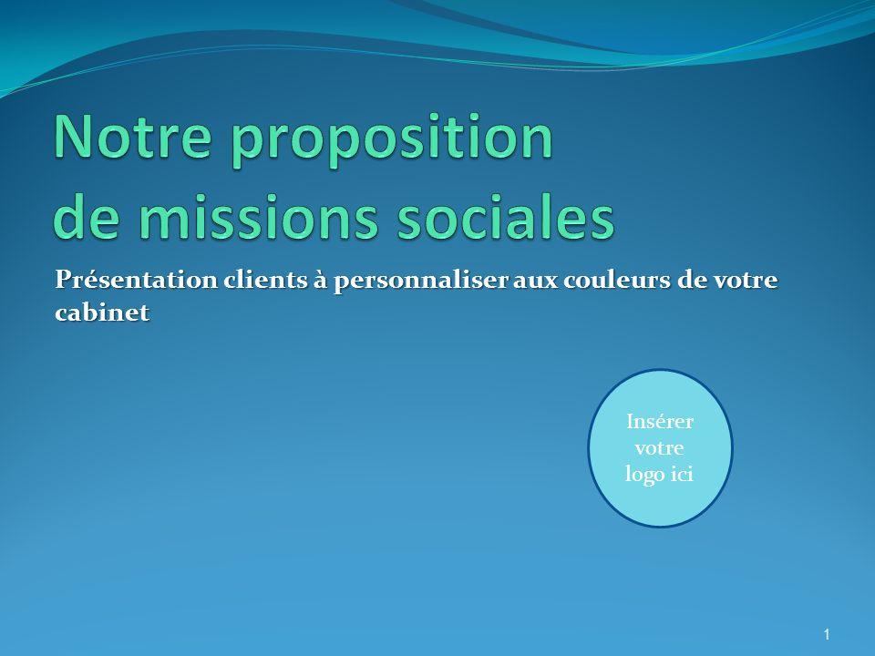 Au sommaire Le contexte en quelques chiffres Contenu de notre mission sociale Nos atouts Nos autres missions 2