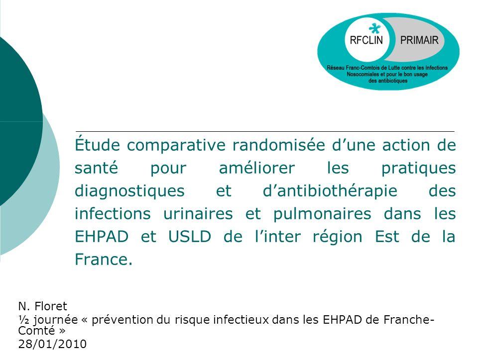 Étude comparative randomisée dune action de santé pour améliorer les pratiques diagnostiques et dantibiothérapie des infections urinaires et pulmonair