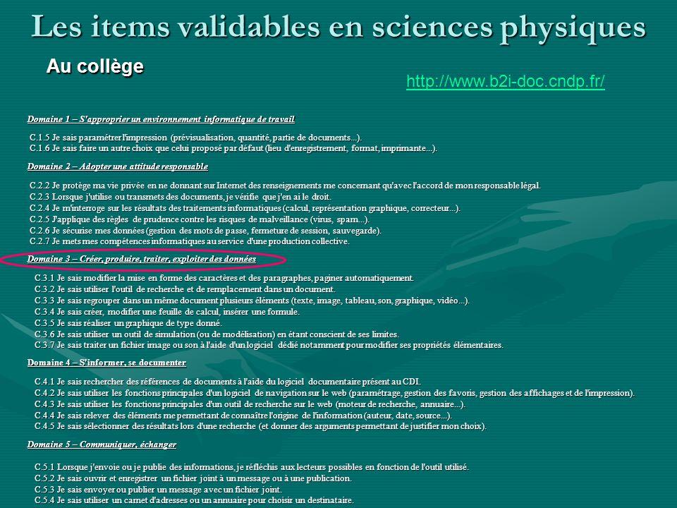http://www.b2i-doc.cndp.fr/ C.1.1 Je sais m'identifier sur un réseau ou un site et mettre fin à cette identification. C.1.2 Je sais accéder aux logici