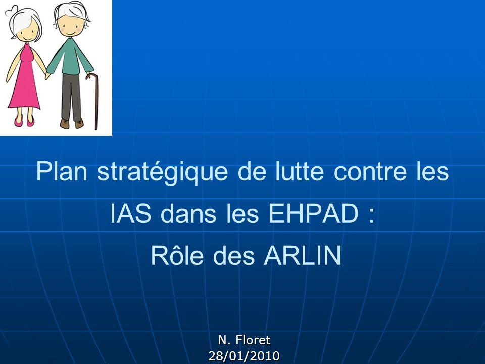Plan stratégique de lutte contre les IAS dans les EHPAD : Rôle des ARLIN N. Floret 28/01/2010