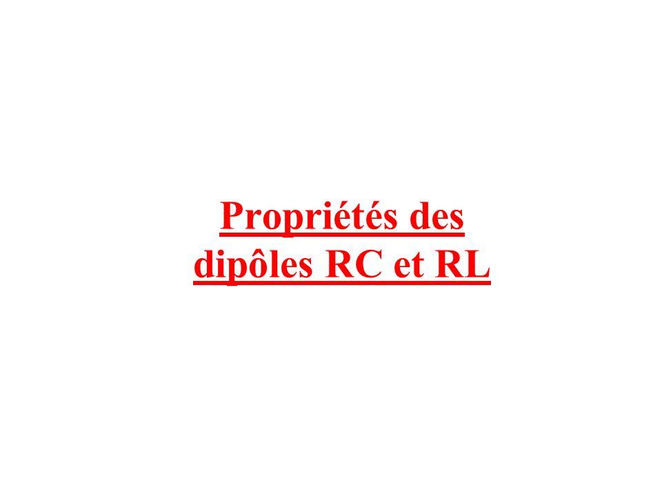 Propriétés des dipôles RC et RL