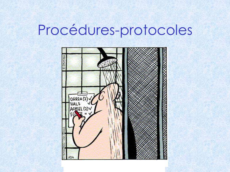 Procédures-protocoles