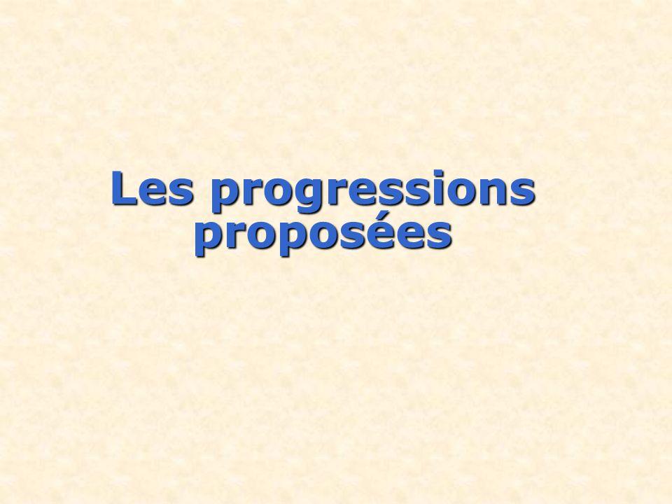 Les progressions proposées