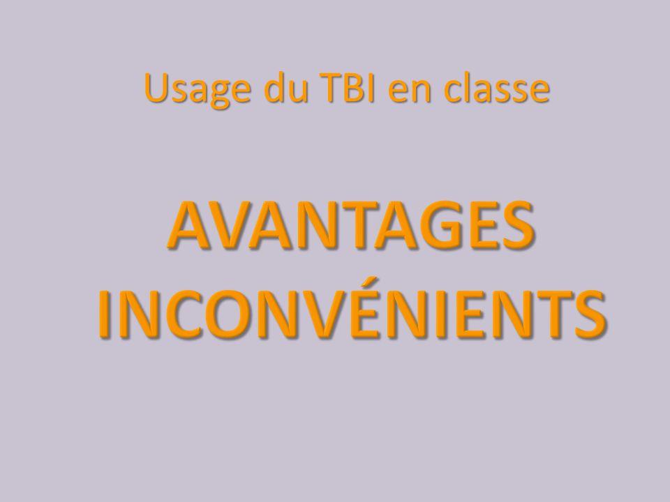 Usage du TBI en classe
