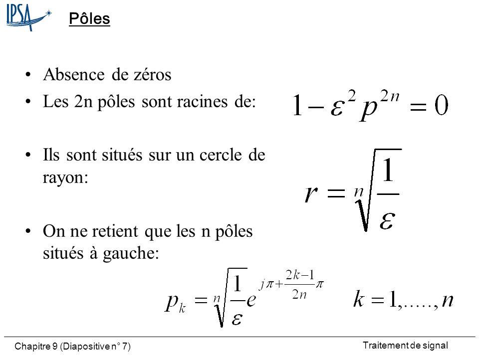 Traitement de signal Chapitre 9 (Diapositive n° 8) Lieu des racines