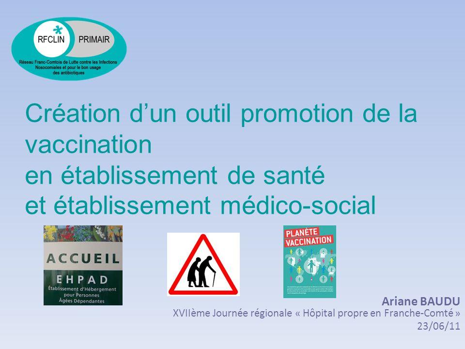 Support : le calendrier vaccinal Calendrier vaccinal revu et actualisé chaque année Diffusion annuelle : –en avril lors de la semaine européenne de la vaccination –accessible sur différents site : Ministère chargé de la Santé : : http://www.sante.gouv.fr/fichiers/bo/2011/11-04/ste_20110004_0100_0047.pdf Institut de Veille Sanitaire : un numéro spécial du Bulletin épidémiologique hebdomadaire y est consacré : http://www.invs.sante.fr/beh/2011/10_11/beh_10_11_2011.pdf http://www.invs.sante.fr/beh/2011/10_11/beh_10_11_2011.pdf Institut national de prévention et déducation pour la santé : http://www.inpes.sante.fr/ http://www.inpes.sante.fr/ Haut Conseil de la Santé Publique : www.hcsp.fr
