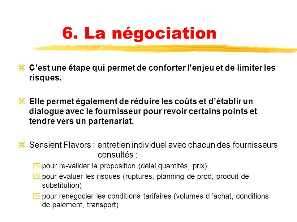 L analyse des offres (suite) zLe choix du ou des fournisseurs finaux se fait en fonction de 2 paramètres fondamentaux : -lenjeu -le risque zet 3 critè