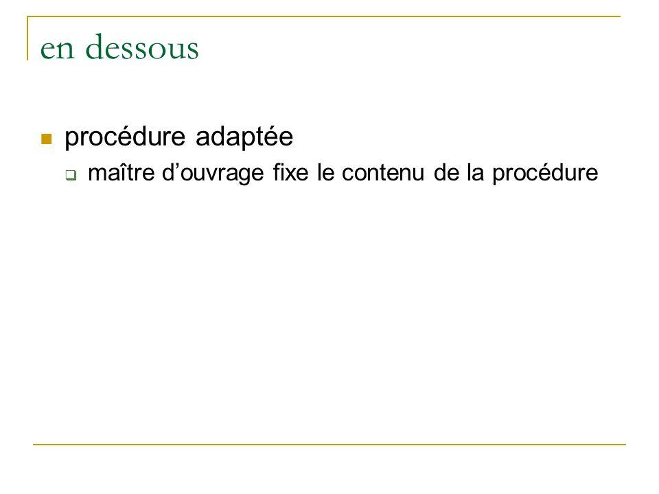 en dessous procédure adaptée maître douvrage fixe le contenu de la procédure