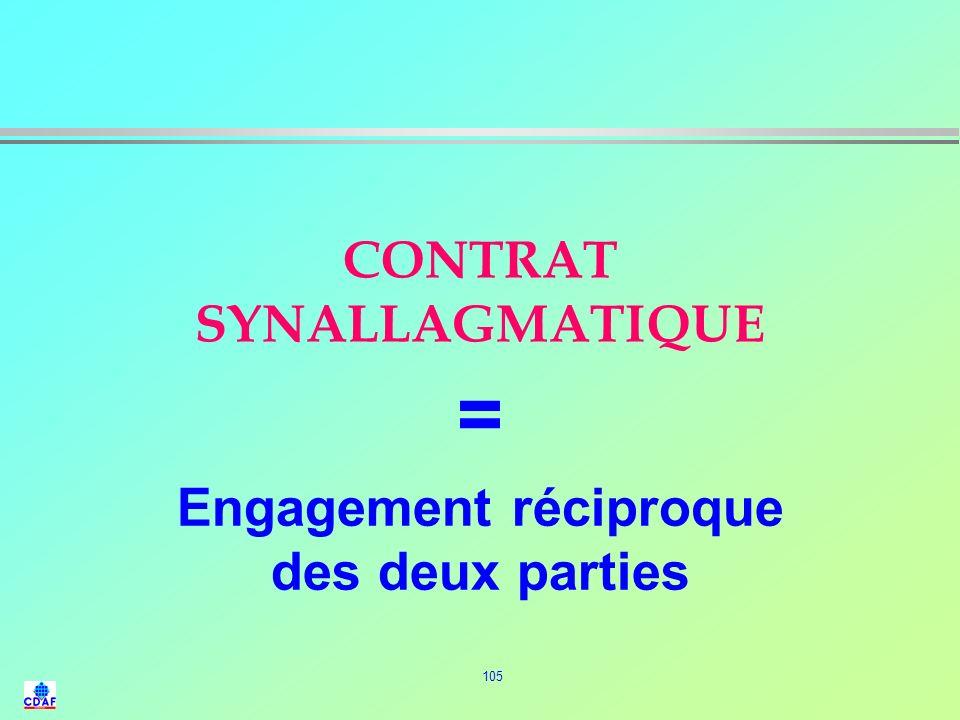 104 Définition du Contrat l Convention par laquelle une ou plusieurs personnes sobligent envers une ou plusieurs autres, à donner, à faire ou ne pas f