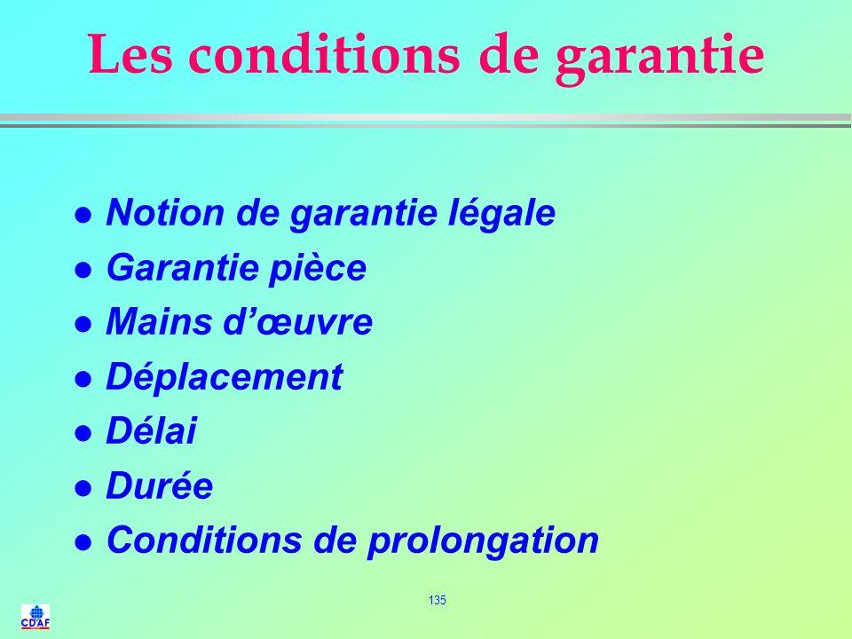 134 LE CONTRAT DE PRESTATIONS DE SERVICES l Obligation de moyen (engagement) l Obligation de résultat ? l Forfait l Régie