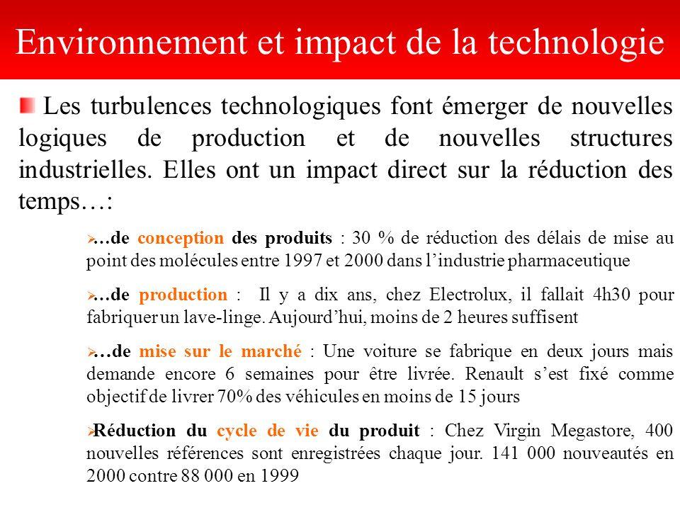 Les turbulences technologiques font émerger de nouvelles logiques de production et de nouvelles structures industrielles. Elles ont un impact direct s