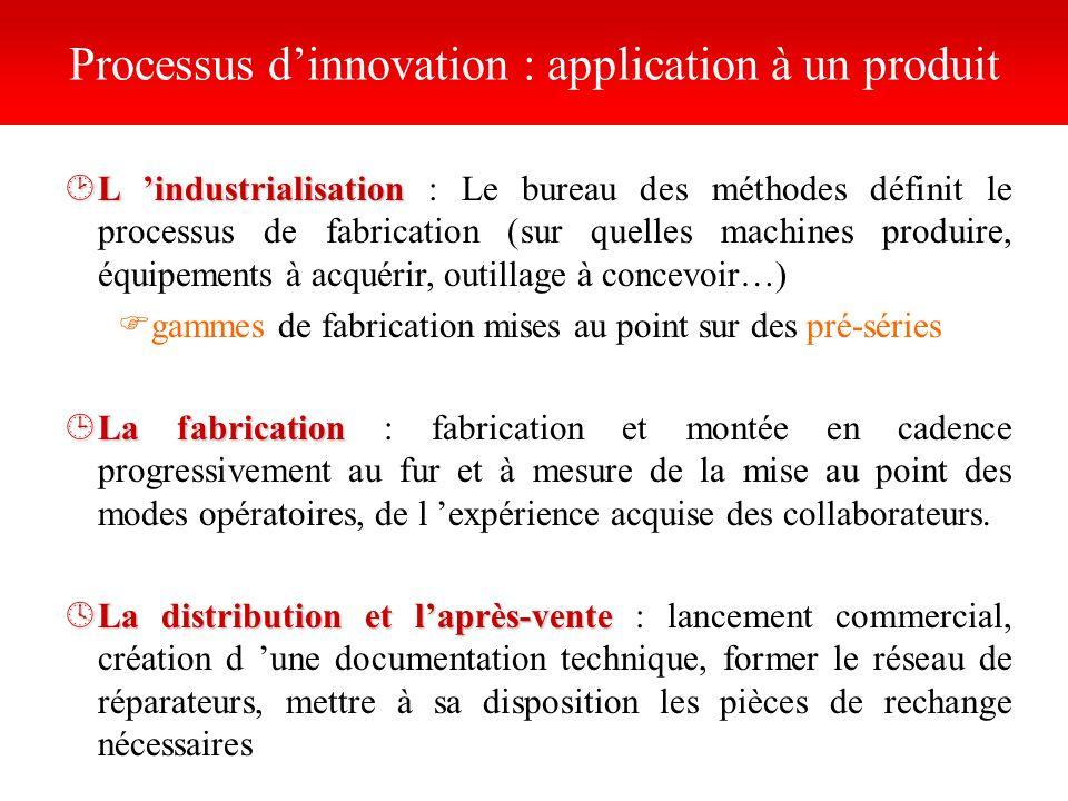 ¸L industrialisation ¸L industrialisation : Le bureau des méthodes définit le processus de fabrication (sur quelles machines produire, équipements à a