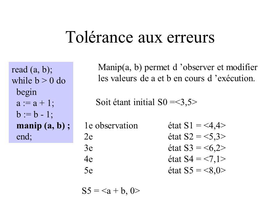 Mutants On produit DT {x=3} pour tuer les deux mutants x := x*2 et x := x2