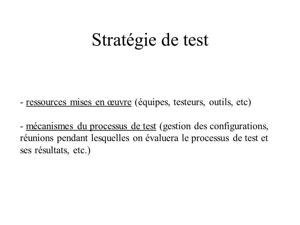 Types de test 1) Fonctionnels ou boîte noire 2) Structurels ou boîte blanche 1) statiques (on observe le code) 2) dynamiques (on exécute le code) Gris