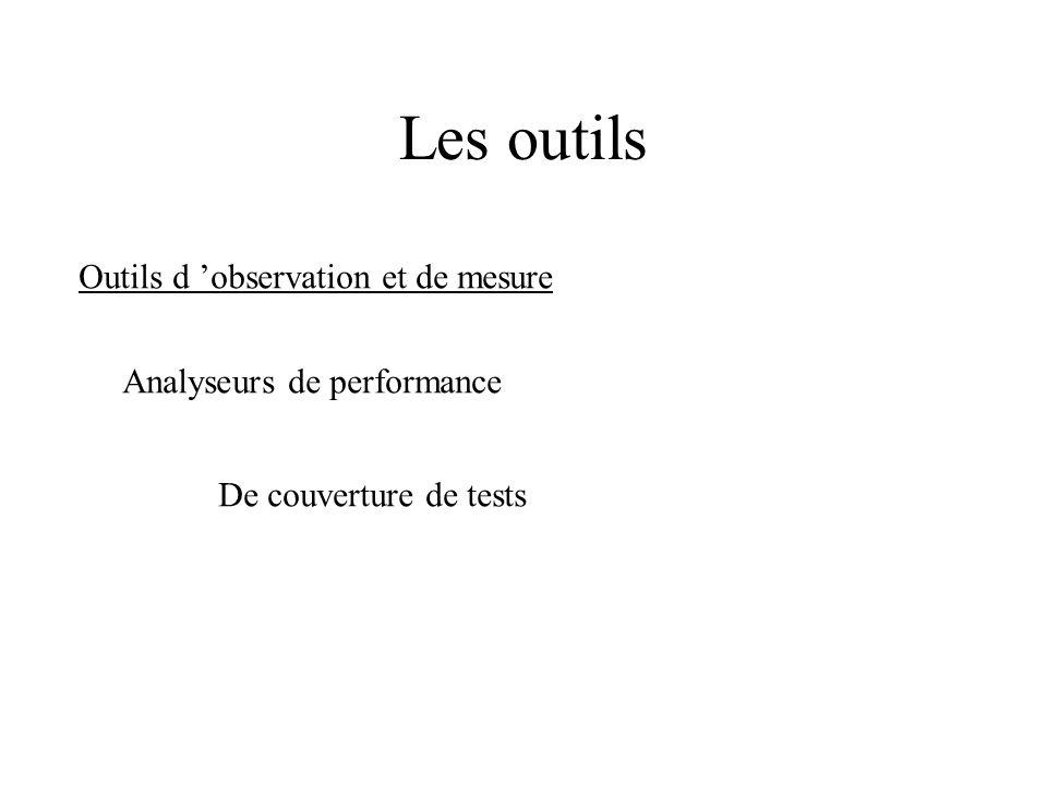 Les outils Outils de traitement de résultats Comparateurs de résultats Gestionnaires de résultats Oracles de test