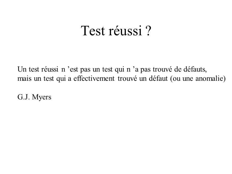 Test réussi .