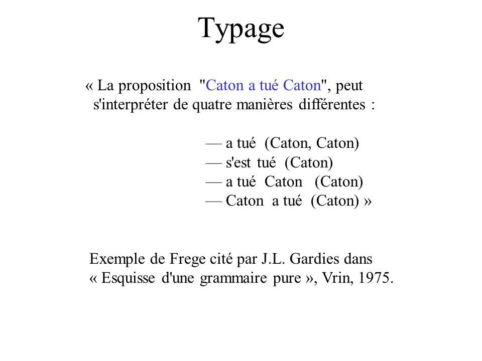 Typage « La proposition