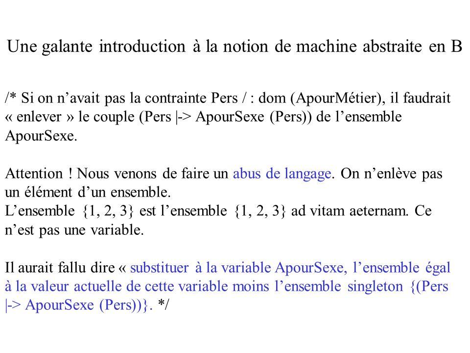 /* Si on navait pas la contrainte Pers / : dom (ApourMétier), il faudrait « enlever » le couple (Pers |-> ApourSexe (Pers)) de lensemble ApourSexe. At