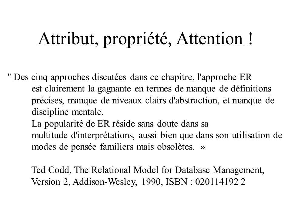 Attribut, propriété, Attention !