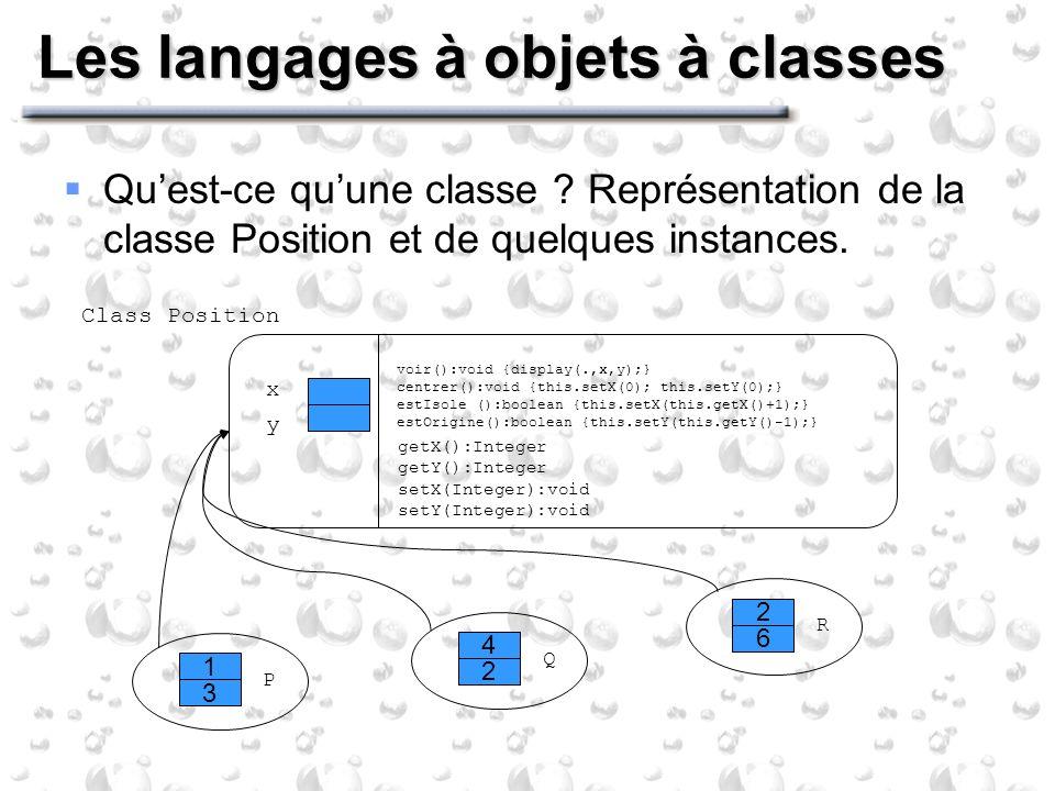 Les langages à objets à classes Quest-ce quune classe .