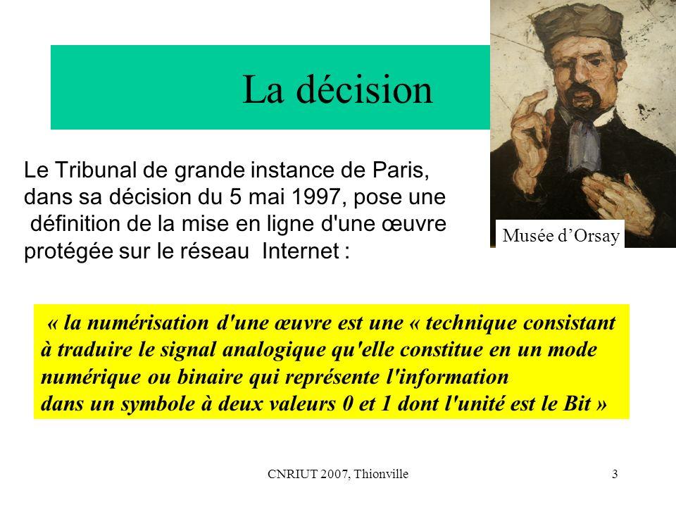 CNRIUT 2007, Thionville4 Linformatique na pas besoin de théorie .