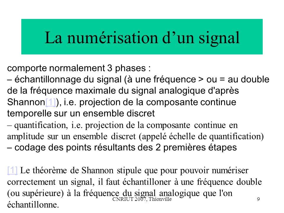 CNRIUT 2007, Thionville20 Mesure (suite) Tous les prédicats du système empirique doivent être préservés dans le système numérique par la fonction F.