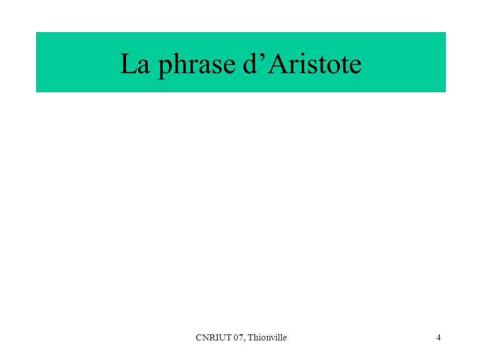 CNRIUT 07, Thionville5 Aristote, catégories