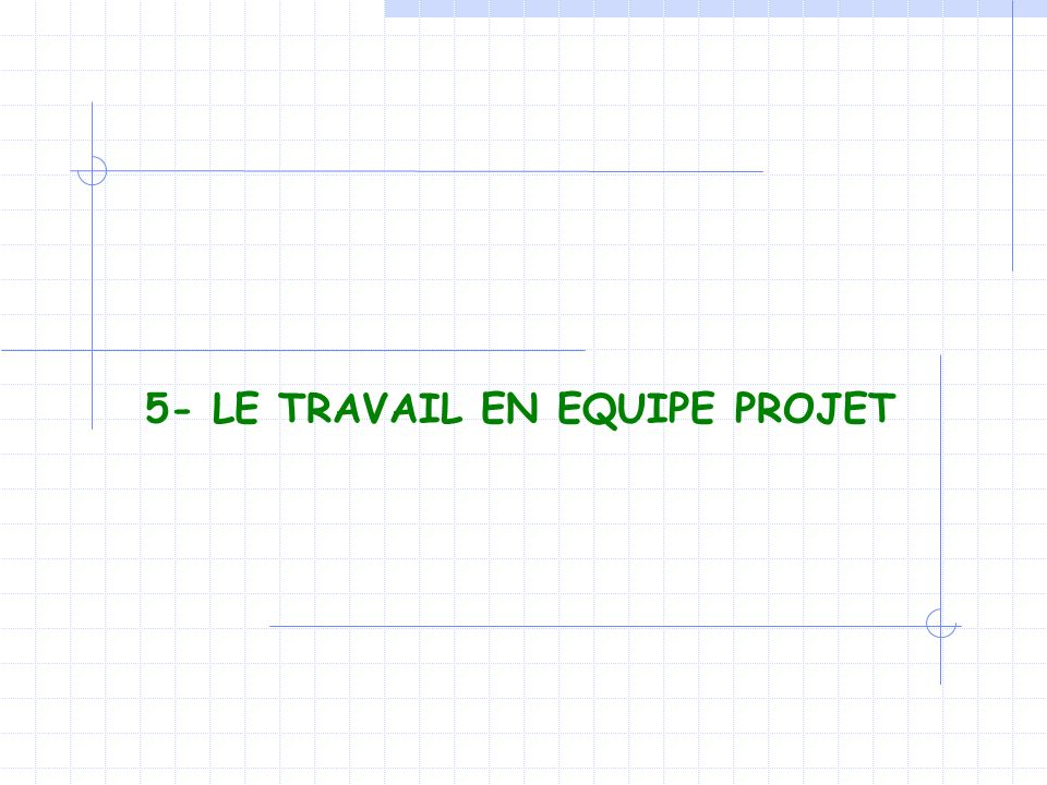 5- LE TRAVAIL EN EQUIPE PROJET