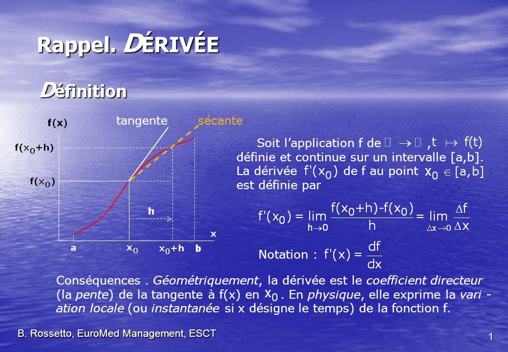 Soit lapplication f de, définie et continue sur un intervalle [a,b].