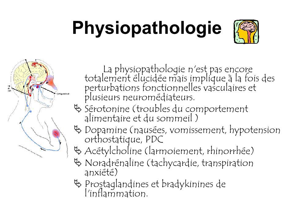 Physiopathologie La physiopathologie n'est pas encore totalement élucidée mais implique à la fois des perturbations fonctionnelles vasculaires et plus