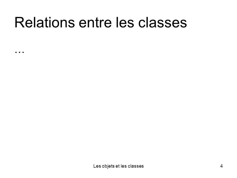 Les objets et les classes4 Relations entre les classes …