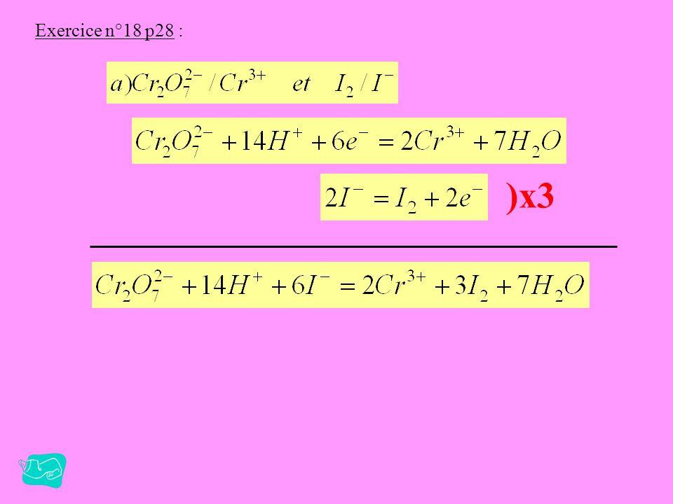 Exercice n°14 p28 : C = 4,4.10 -2 mol.l -1
