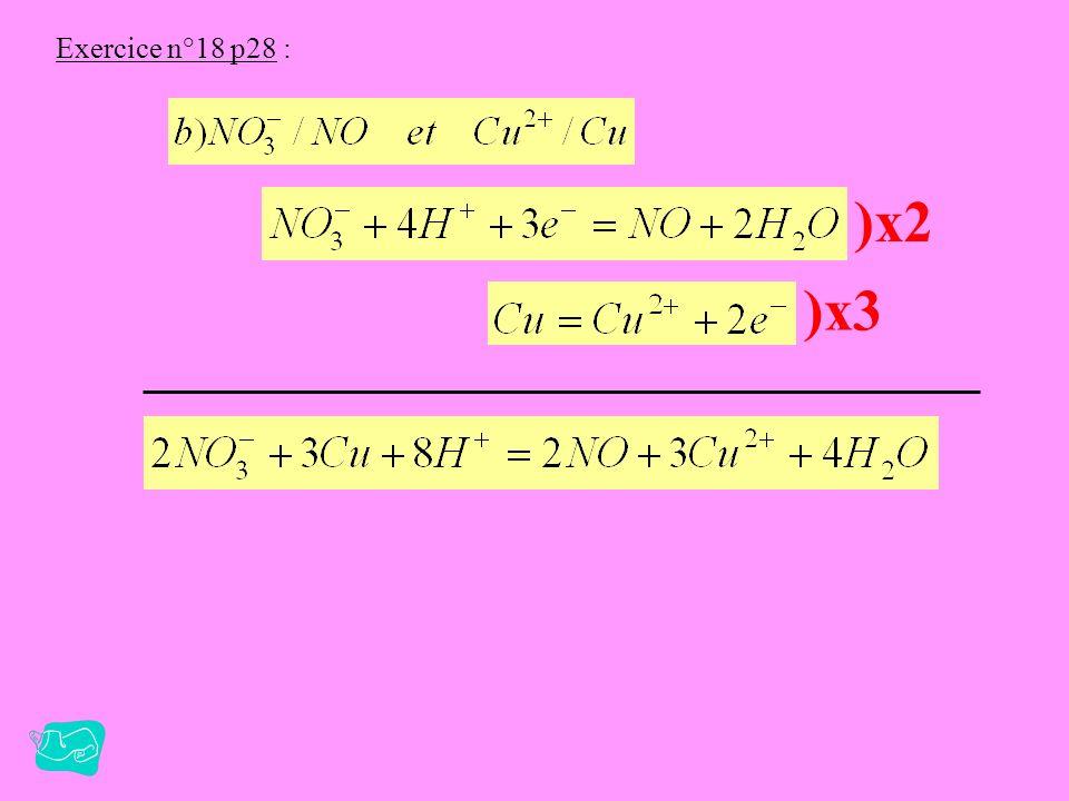 Exercice n°18 p28 : )x3