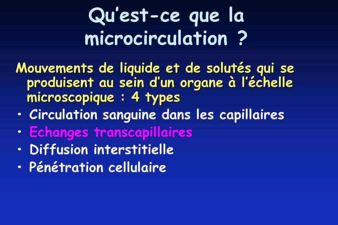 Quest-ce que la microcirculation .