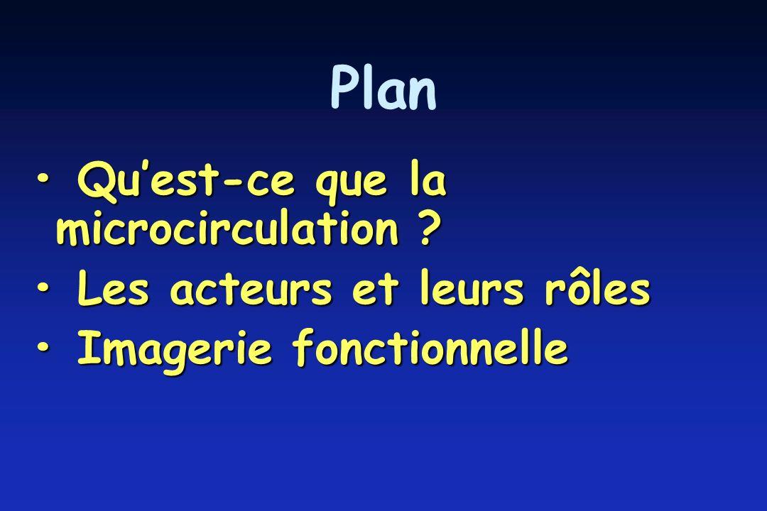 Plan Quest-ce que la microcirculation .Quest-ce que la microcirculation .