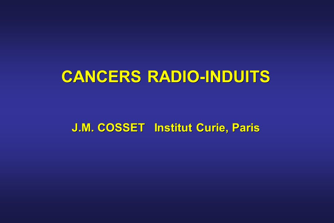 Cancers radio-induits (71 ter) J.Boice 2003 : Incidence ; « Overall, no increase in cancer risk could be attributed to living near the two nuclear materials processing facilities »