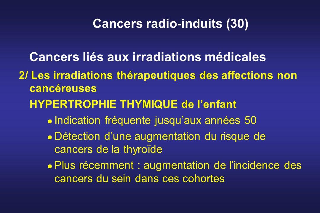 Cancers radio-induits (30) Cancers liés aux irradiations médicales 2/ Les irradiations thérapeutiques des affections non cancéreuses HYPERTROPHIE THYM