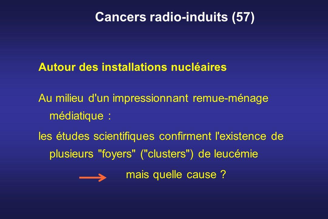 Cancers radio-induits (57) Autour des installations nucléaires Au milieu d'un impressionnant remue-ménage médiatique : les études scientifiques confir
