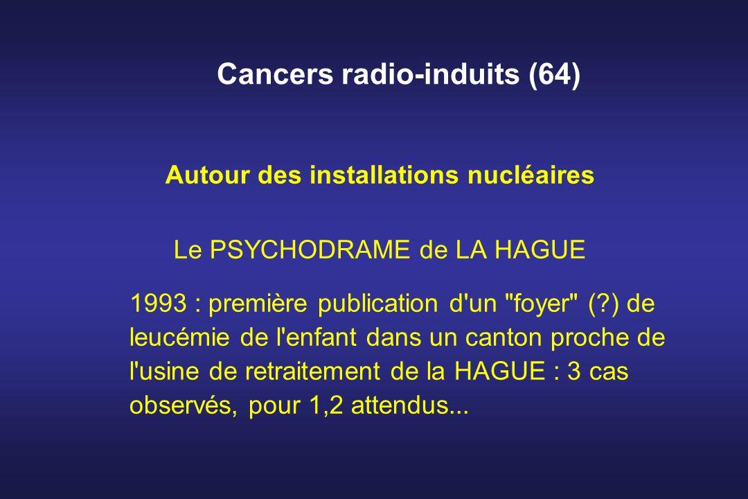 Cancers radio-induits (64) Autour des installations nucléaires Le PSYCHODRAME de LA HAGUE 1993 : première publication d'un