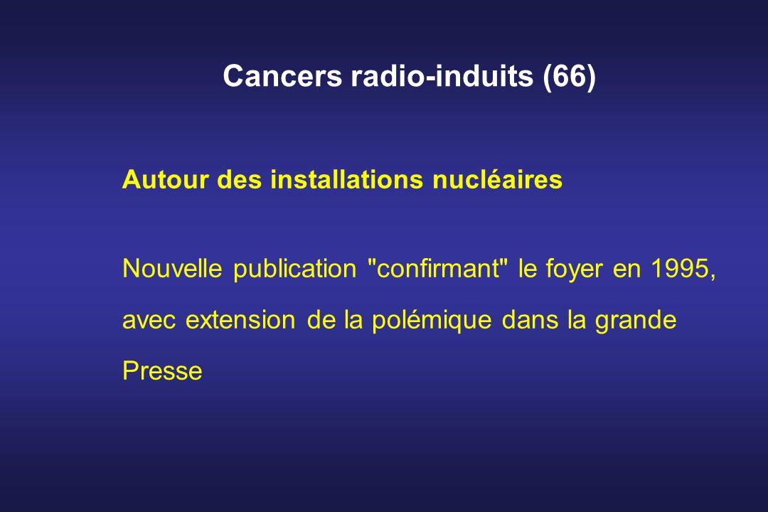 Cancers radio-induits (66) Autour des installations nucléaires Nouvelle publication