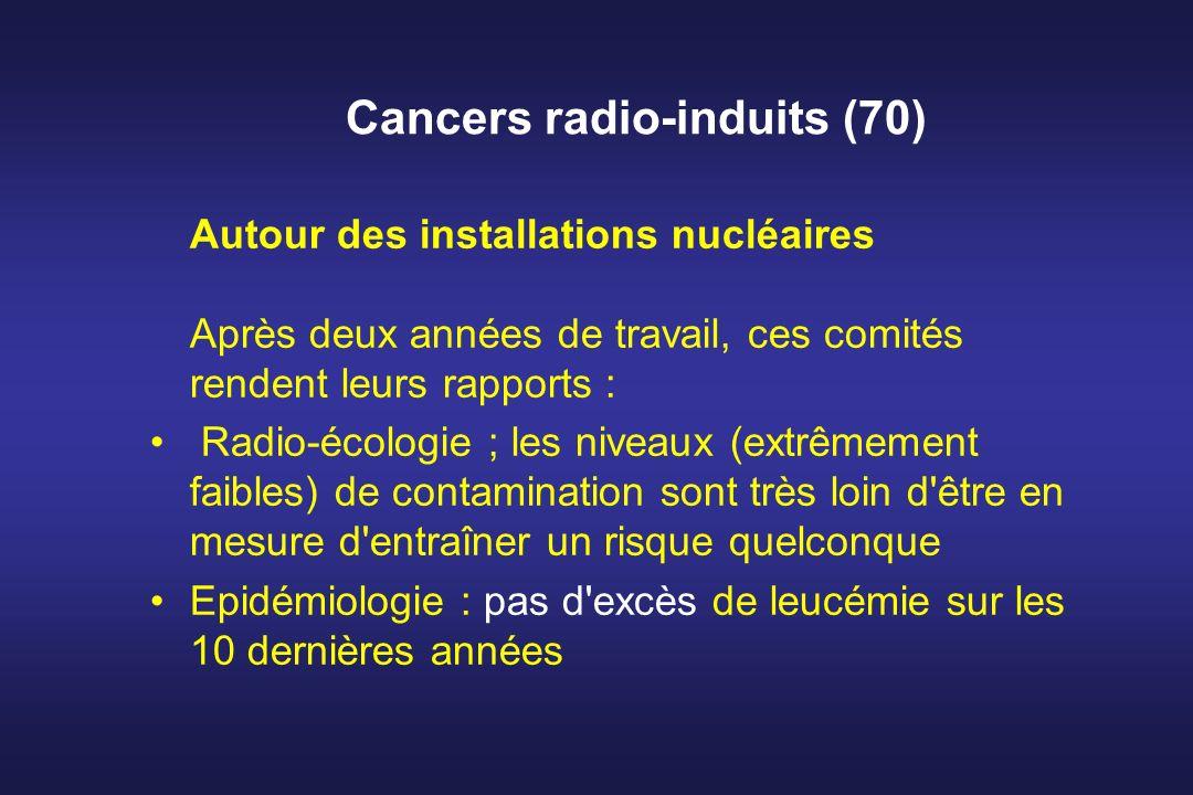 Cancers radio-induits (70) Autour des installations nucléaires Après deux années de travail, ces comités rendent leurs rapports : Radio-écologie ; les