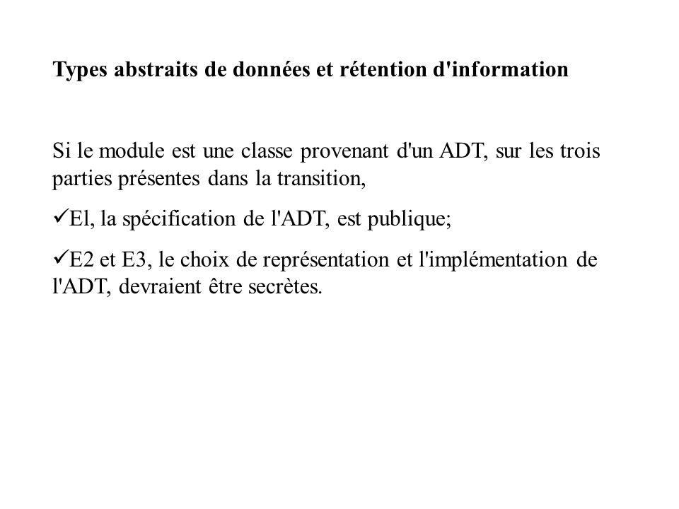 Types abstraits de données et rétention d'information Si le module est une classe provenant d'un ADT, sur les trois parties présentes dans la transiti