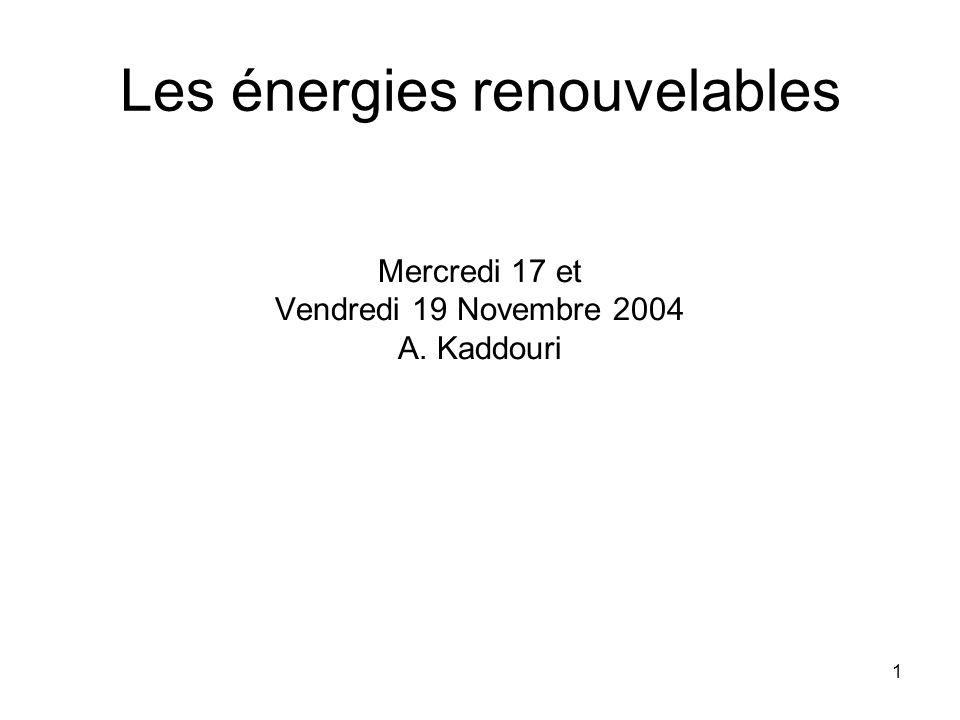 72 Récupération dénergie 1 tonne dordures ménagère 9MJ/kg 5-7 t de déchets ménagers = 1t fioul Des fumées qui séchappent du four on récupère de lénergie: les fumées cèdent de la chaleur à travers un échangeur, à lintérieur duquel circule de leau surchauffée (rendement = 80%) Production de 1500 kWh thermique/tonne dordure (chauffage domestique, industries hôpitaux)