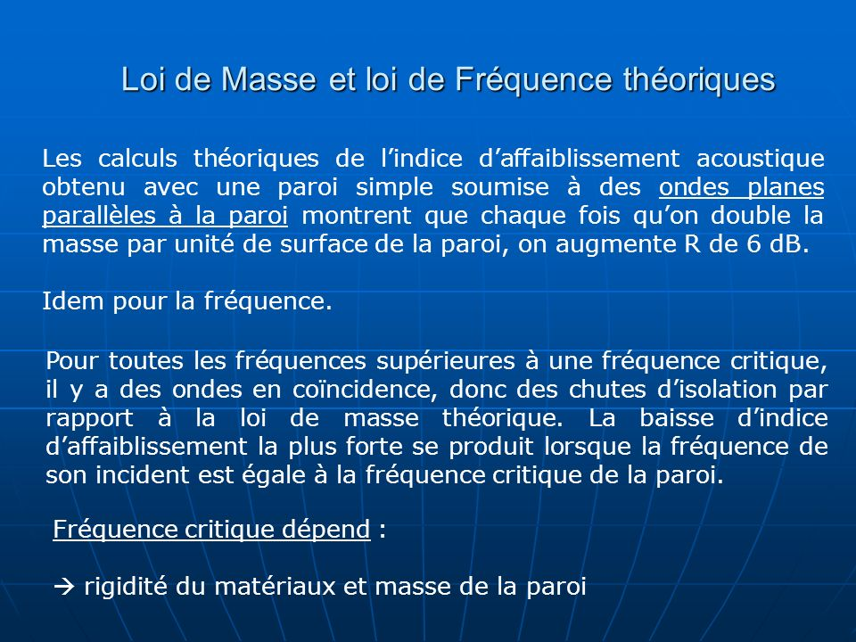 Ondes incidentes…