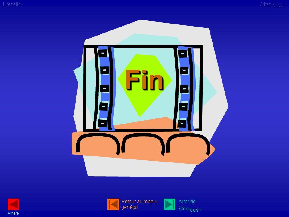 Arrière Arrêt de Steel CUST Retour au menu général FinFin