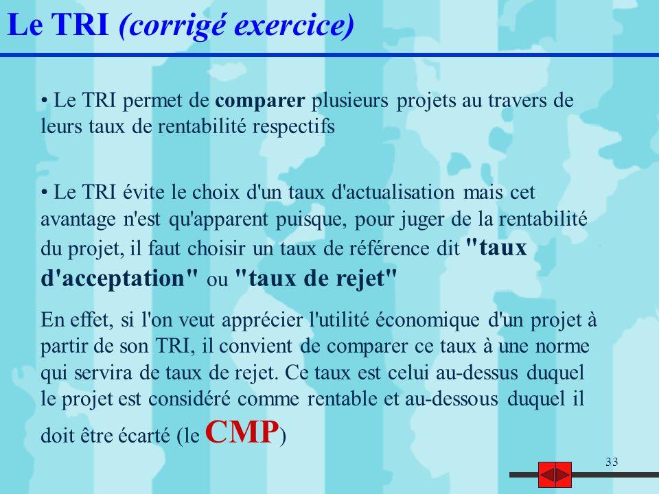 34 Choix dinvestissement : le cas « PRO » Considérons deux projets dinvestissement concurrents, « PRO100 » et « PRO200 ».