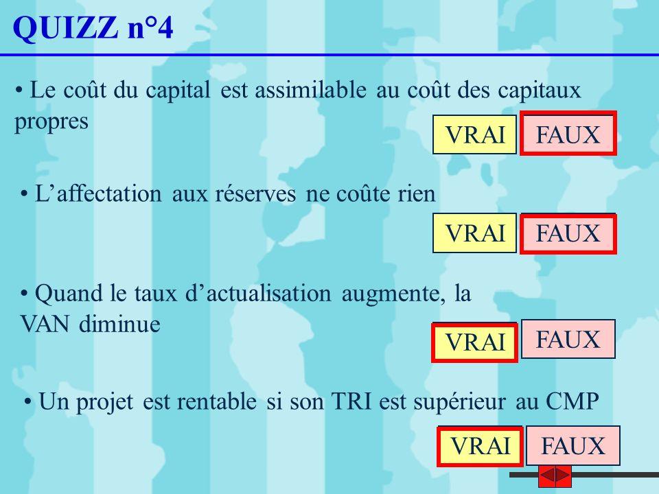 41 Cas supplémentaire : le cas DIFFERENCIA Considérons deux projets dinvestissement concurrents, « DIF 1 » et « DIF 2 ».