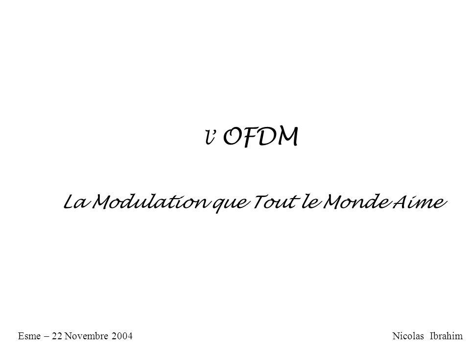 l OFDM La Modulation que Tout le Monde Aime Nicolas IbrahimEsme – 22 Novembre 2004